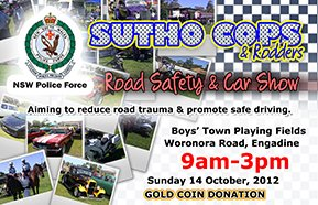 Sutho Cops & Rodders Road Safety & Car Show 2012