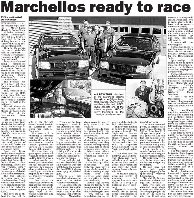 Marchellos ready to race