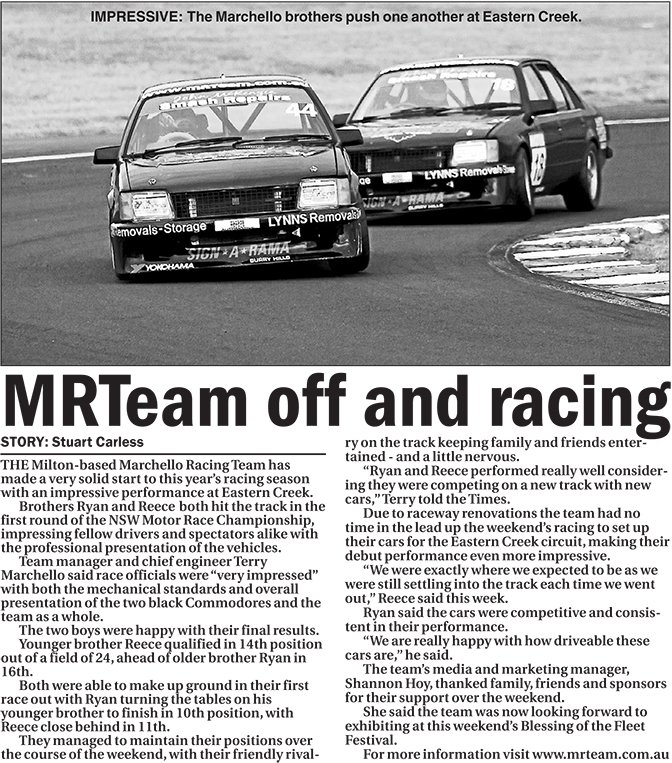 MRTeam off and racing