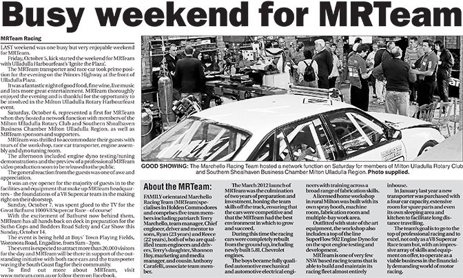 Busy weekend for MRTeam