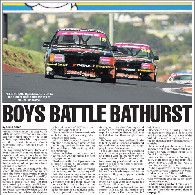 BOYS BATTLE BATHURST